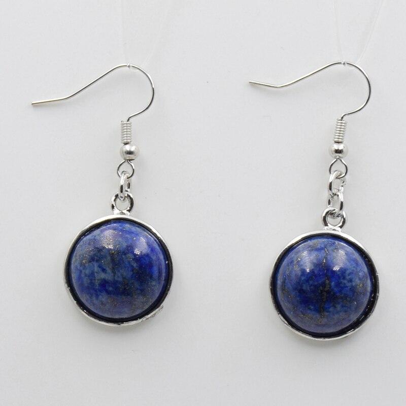 Blue Onyx Gemstone Rose Drop Earring