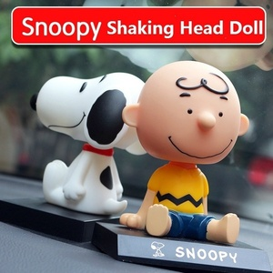 Funny Snoopy Car Dolls Head Shaking Toy Model Car Ornaments Auto Decoration Accessories