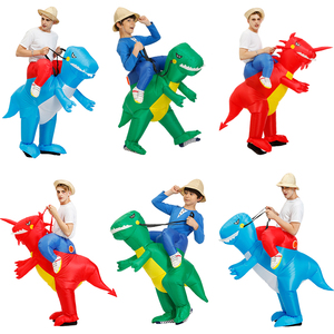 Kids Inflatable Dinosaur costume cosplay Unicorn T-REX clothing Halloween Costumes For Women men Adult Fantasia Party Jumpsuit(China)