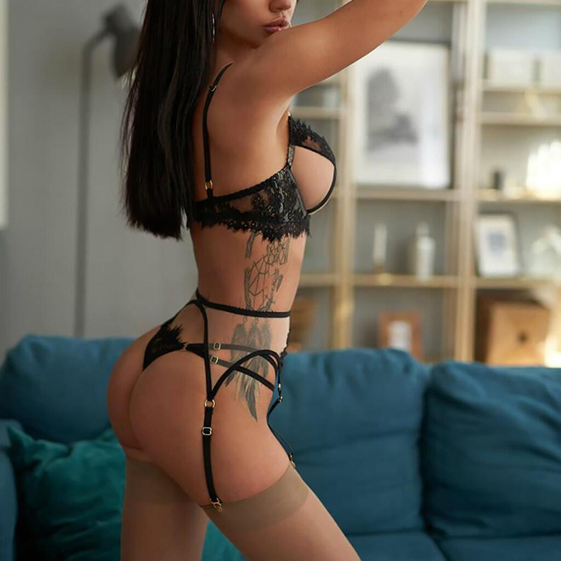Ensemble de sous-vêtements Sexy en dentelle