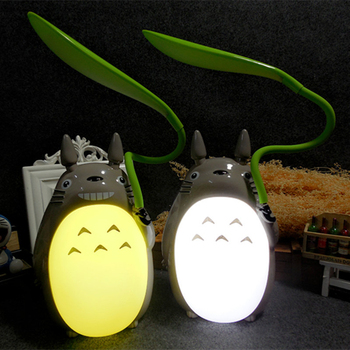 Creative LED Cartoon Totoro Shape Night Lights Lamp USB Rechargeable Reading Table Desk Lamps for Kids Gift Home Decor Novelty цена 2017