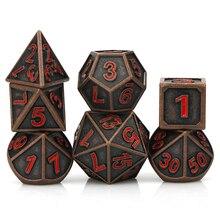 Набор металлических игральных костей dungeon and dragon для ролевых игр, набор игральных костей dnd, игральные кости d & d под заказ, игральные кости дл...
