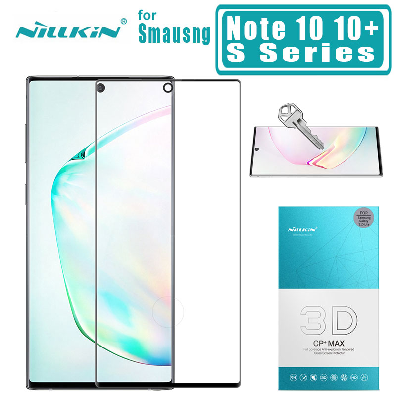 Nillkin for Samsung Galaxy Note 10 10 Plus 5G 9 8 S9 S8 Tempered Glass 3D Full Cover Protector Film for Samsung Note 10 5G Glass