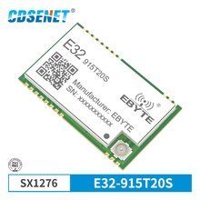 SX1276 915MHz 100mW SMD Wireless Transceiver Module E32-915T20S 915 mhz TTL 2000m Long Range Transmitter SX1278 SMD Reciever sx1276 lora 868mhz 100mw smd wireless transceiver cdebyte e32 868t20s 868 mhz ttl long range ipex transmitter and receiver