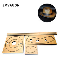 SMVAUON Cowboy Hat Mold Making Decor Supplies Dies Template Suitable for common die cutting machines Leather cutter