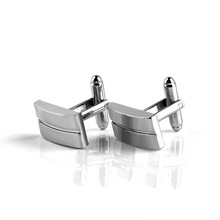 Square strip fashion French cufflinks alloy plating jewelry meeting anniversary gift accessories
