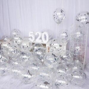 Image 3 - 10 adet 12 inç lateks Confetti balon ilk mutlu doğum günü partisi dekorasyon 1st bir yıl bebek çocuk yetişkin erkek kız düğün malzemeleri