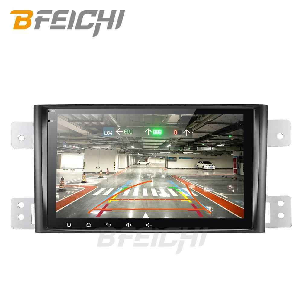 Dvd de coche android 9,0 para suzuki grand vitara 2006-2011 radio de coche multimedia estéreo gps con Volante 2G + 32G navegación