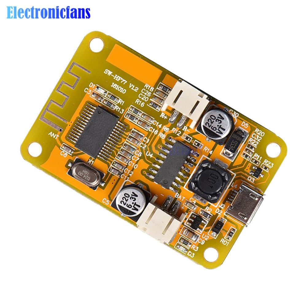 Mono placa amplificadora Digital Bluetooth, módulo de 6W, Micro USB, receptor de Audio, altavoz, tablero musical DIY