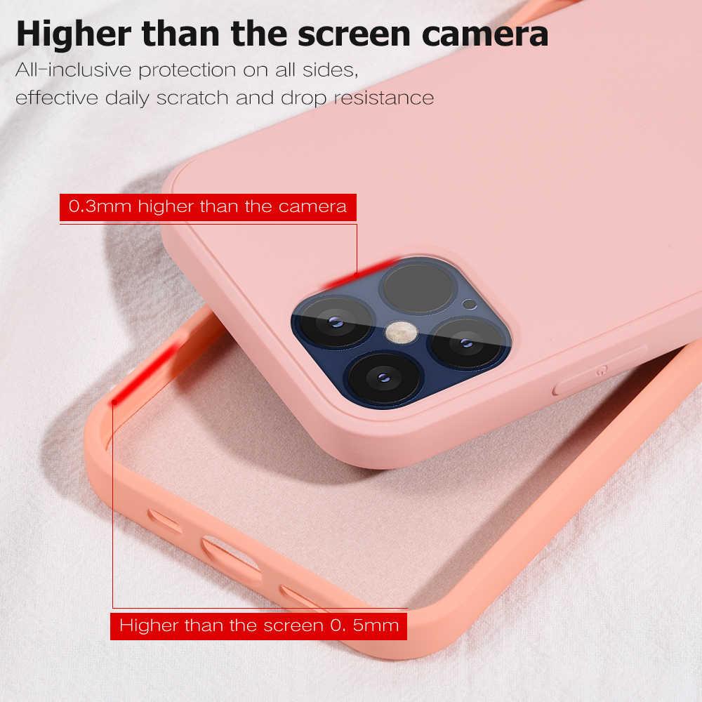 Taklit orijinal sıvı silikon kapak iPhone 12 12 Pro kapak kılıf iPhone 12 Max 12 Pro Max sıvı silikon telefon kılıfı
