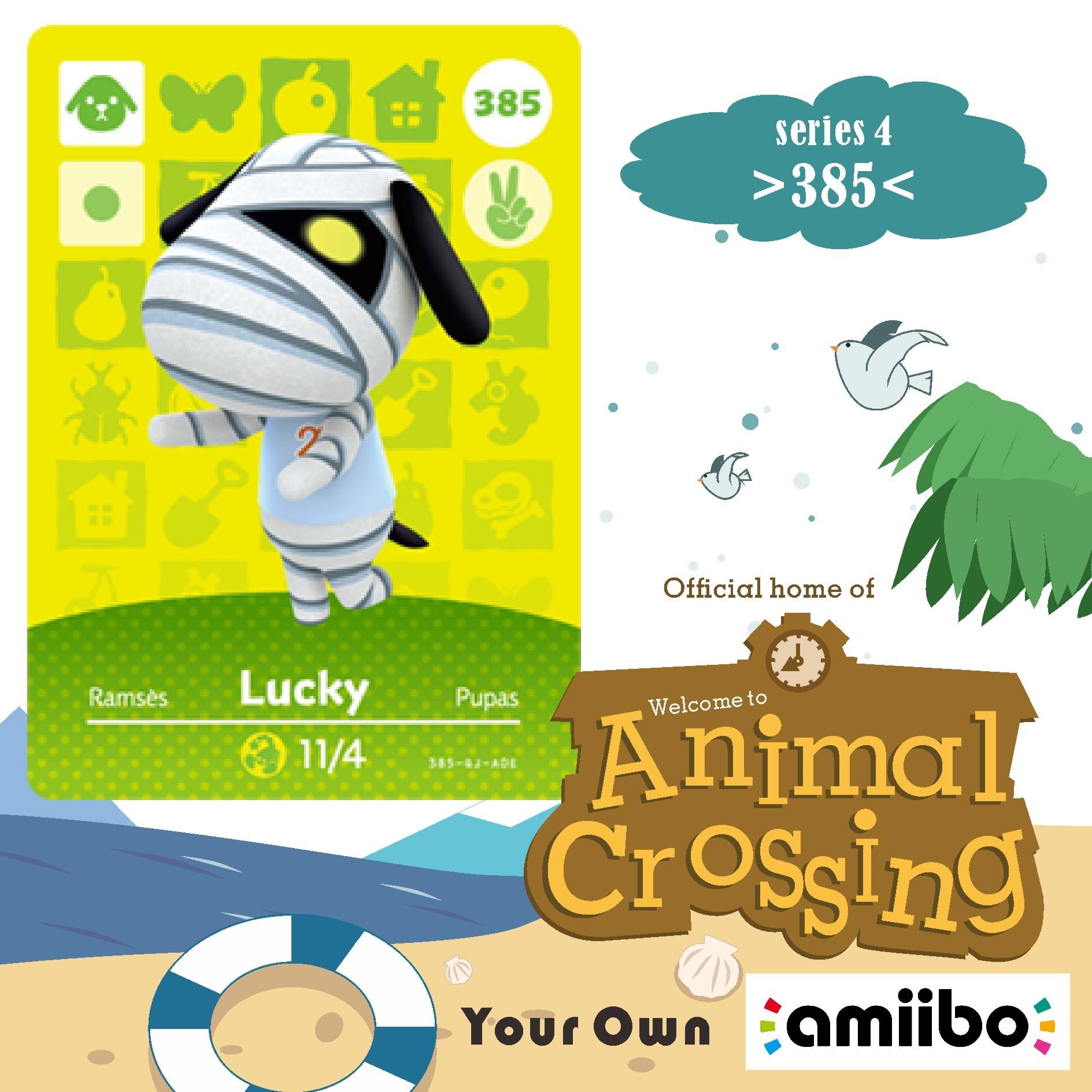 385 Lucky Amiibo Animal Crossing Series 3 Animal Crossing Amiibo Card Work For Ns Games Amiibo Nfc Card Dropshipping