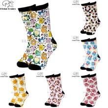 Plstar Cosmos Cartoon socks lovely cute Animal dog cat deer 3d Funny long Socks Men Women cotton quality dropshopping-1