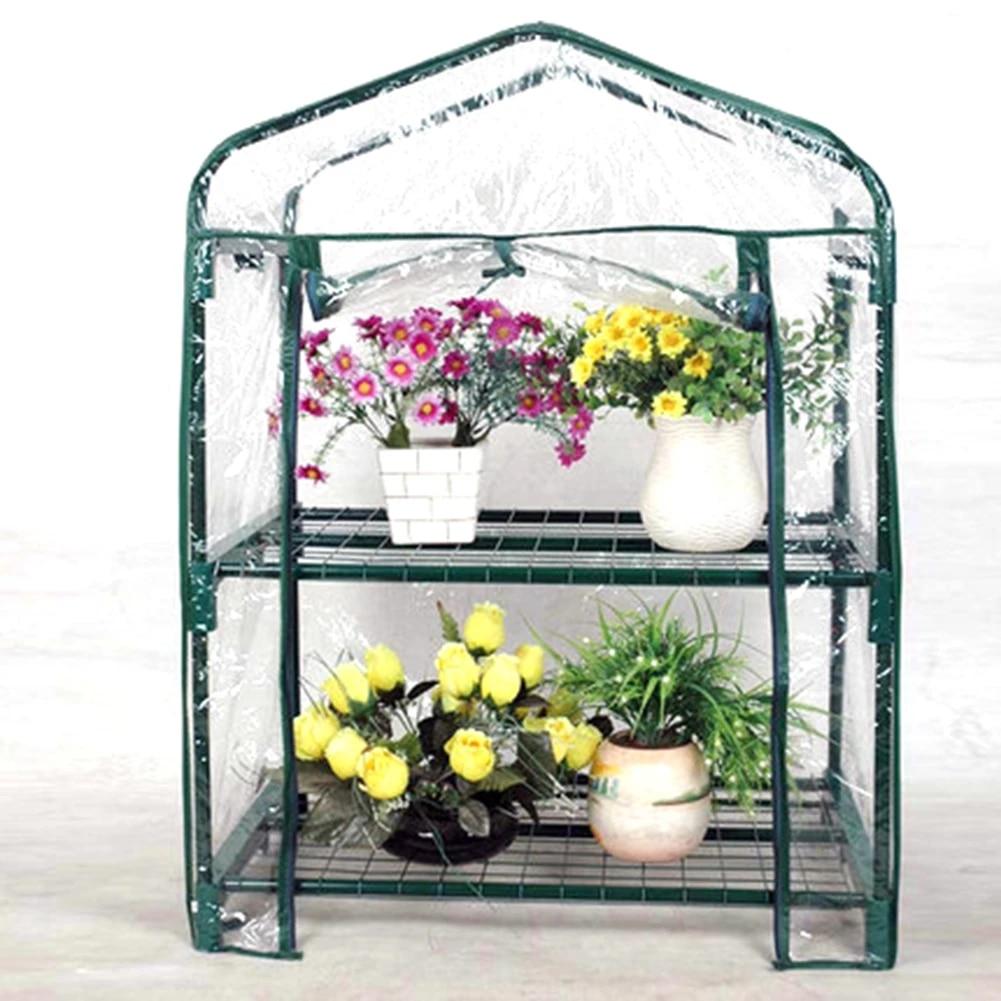 Pvc Warm Garden Tier Greenhouse Cover Waterproof Protects Garden Plants Flowers