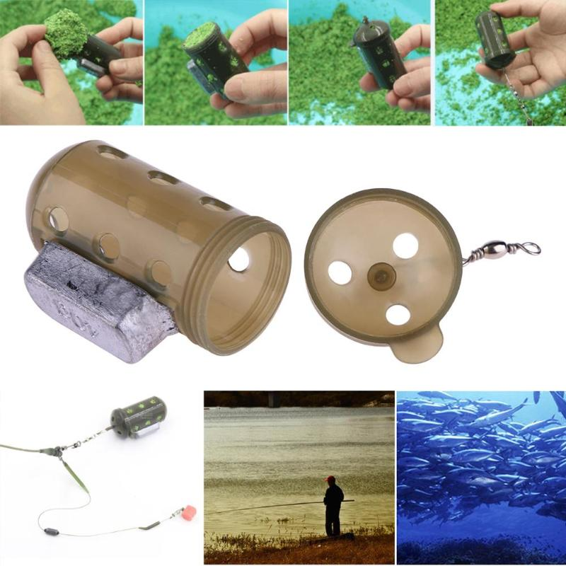 20/30/40/50/60g Carp Fishing Feeder Tool Bait Cage Lure Pit Device W/ Lead Pellet Fish Tackle Pesca Feeding Trough Cage Box Hot