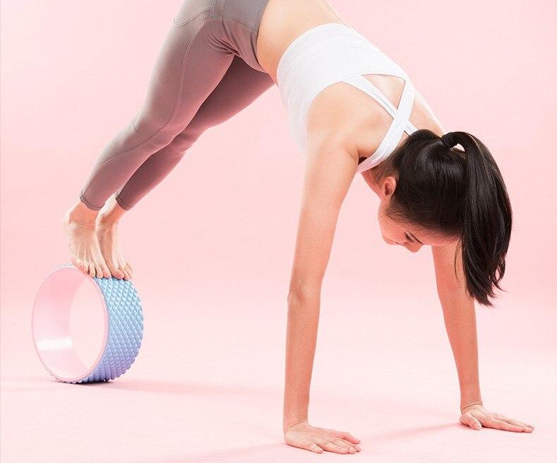 abs ginásio profissional equipamentos fitness yoga roda