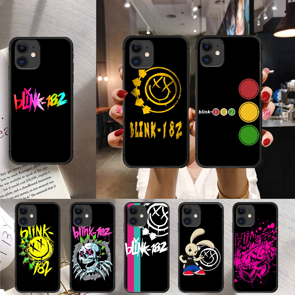 Band Blink 182 Phone Case Cover For Iphone 6 7 8 11 12 5S 6S X Xr XS Se Plus Pro Max Mini 2020 Black Soft 3D Hoesjes Phone