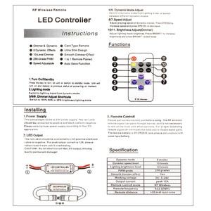 Image 5 - 12 24 فولت 11 مفاتيح RF LED قطاع تحكم عن بعد باهتة صغيرة RF تيار مستمر 5 فولت 12 فولت 24 فولت led تحكم عن بعد ل LED 5050 2835 قطاع واحد