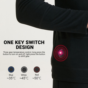 Image 3 - Winter Heated Underwear Suit USB Battery Powered Heated Thermal Tops Pants Smart Phone APP Control Temperature Motorcycle Jacket