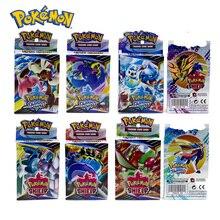 25PCS Pokemon GO Cards GX TRAINERS TGA TEAM BREAK 3D Flash Card SWORD&SHIELD Grookey Scorbunny Collectible Gift Children Toy