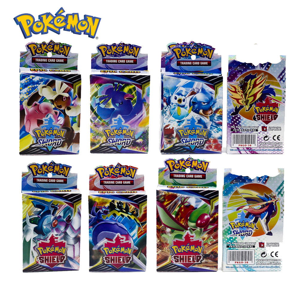 25PCS Pokemon GO Cards GX TRAINERS TGA TEAM BREAK 3D Flash Card SWORD&SHIELD Grookey Scorbunny Collectible Gift Children Toy image