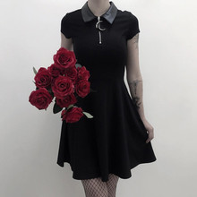 KANCOOLD Goth Dark Aesthetic Vintage Pleated Evenging Party