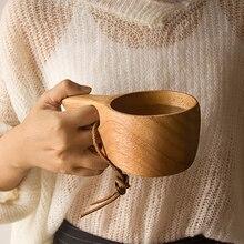 Coffee-Cup Wood Japanese-Style Drinking-Cup Handmade-Juice Rubber Tea Utensil Beverage