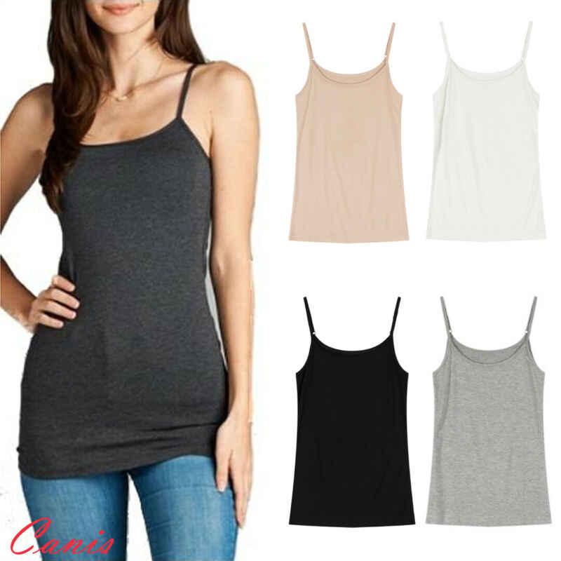 Meihuida 패션 고품질 여성 캐주얼 캐미솔 스파게티 스트랩 조끼 탑 민소매 블라우스 여름 셔츠