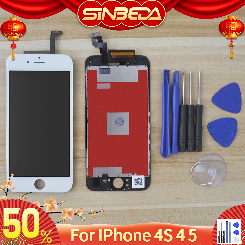 Sinbeda AAAA <font><b>Screen</b></font> For <font><b>iPhone</b></font> 4s 4 5 <font><b>LCD</b></font> Display Touch <font><b>Screen</b></font> Digitizer Assembly For <font><b>iPhone</b></font> 5 <font><b>5s</b></font> 6 <font><b>LCD</b></font> Pantalla Replacement image