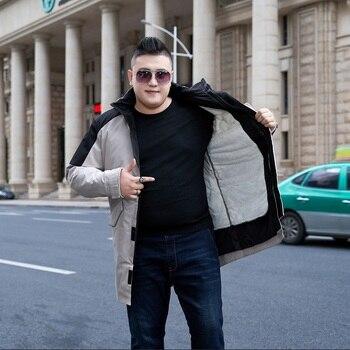 Plus Size 10XL 9XL 8XL 7XL 6XL Winter cotton Jacket Men Thick Parkas Windproof Warm Winter Coat Mens hooded plus fleece jacket