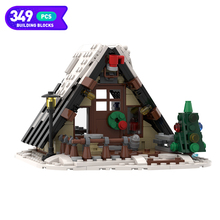Moc City Architecture Winter House Christmas Series Creativeing Building Blocks Village Set Model Children Toys Christmas Gifts