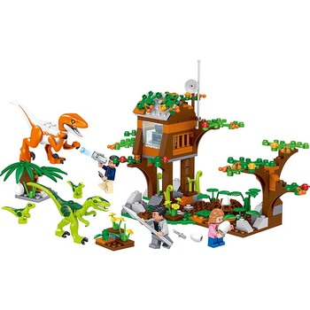 ts8000 jurassic dinosaurs base tyrannosaurus escape building blocks toys kids diy bricks gift for children compatible with lepin 264Pcs Jurassic Baryonyx Dinosaurs Parenting Institute Building Blocks Compatible Lepining Jurassic Bricks Toys for Child