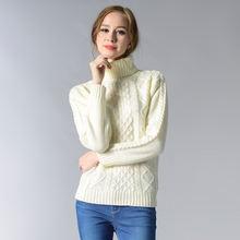 Женские плотные теплые свитера на осень и зиму роскошная модная