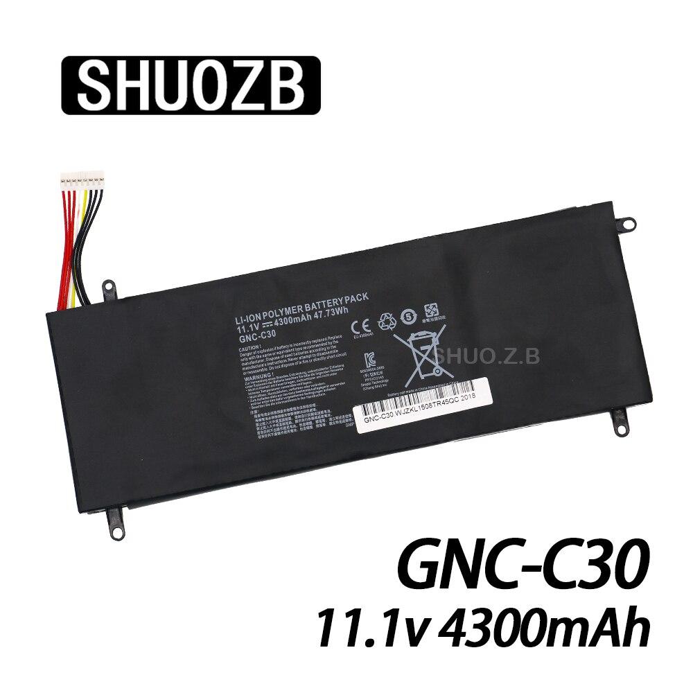 New GNC-C30 Laptop Battery For GIGABYTE U2442 U24F P34G U2442N U2442S U2442V U24 U24T U2442T V1 V2 11.1V 4300mAh 47.73Wh SHUOZB