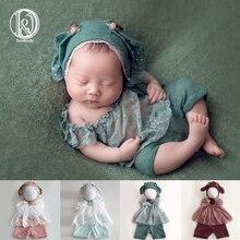 Don&Judy Newborn Photography Props Baby Outfits Ears Hat Bonnet Clothes Set Fotografia Accessories Studio Shoots Photo Props