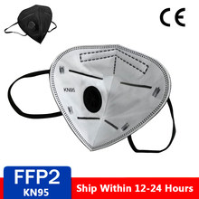 Masque facial réutilisable à valve KN95 FFP2 ffp3, respirateur, 5 couches de Protection, Anti-poussière