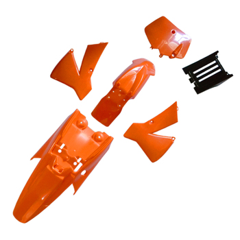 New Orange Fits For KTM 50 SX 50CC 50SX Plastics Cover Kit With Fuel Tank Black Seat For Ktm50 Senior Junior Jr Sr