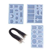 1 Set Crystal Epoxy Mould DIY Handmade Pendant Jewelry Necklace Bracelet Pendants Mold Creative Silicone Molds Set