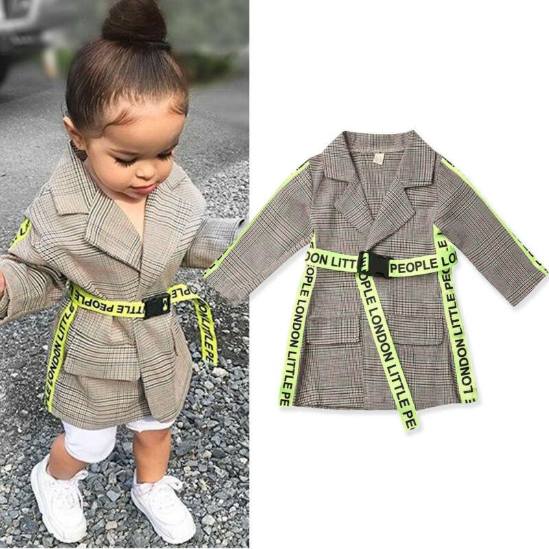 AU Toddler Kids Baby Girl Winter Clothes Belted Coat Jacket Formal Outwear 0-5Y