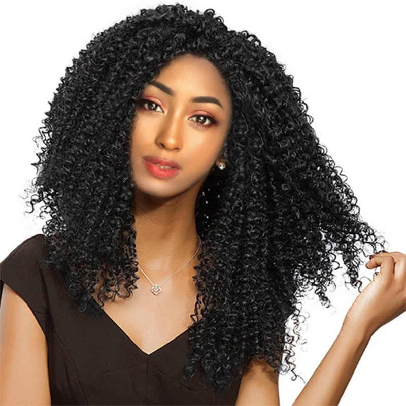ELEGANT MUSES Jerry Curl 12inch Long Synthetic Ombre Kinky Curly Hair Marley Braid Crochet braid Hair Extensions for Black women