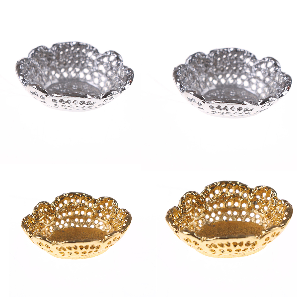 2Pcs Mini Fruit Tray Simulation Furniture Plate Model Kitchen Toys For Doll House Decor 1/12 Dollhouse Miniature Accessories