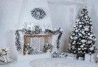 7x5FT  White Reindee...