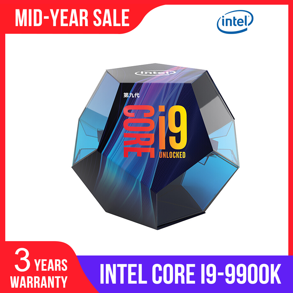 Intel Core I9-9900K Desktop Processor 8 Cores Up To 5.0 GHz Turbo Unlocked LGA1151 300 Series 95W New 100% Original CPU