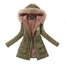 Womens Parka Casual Outwear Autumn Winter Military Hooded Coat Winter Jacket Women Fur Coats Women's Winter Jackets And Coats стоимость