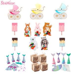 Image 2 - Staraise 10 個キャンディーバッグハッピー誕生日パーティーのギフトバッグラッピング用品結婚式の好意何もギフトバッグ動物のギフトボックス