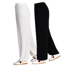 Китайские женские штаны для боевых искусств, тайцзи, кунг-фу, мужские хлопковые Свободные Штаны для танцев, йоги, фитнеса, бега, униформа для акробатики, штаны
