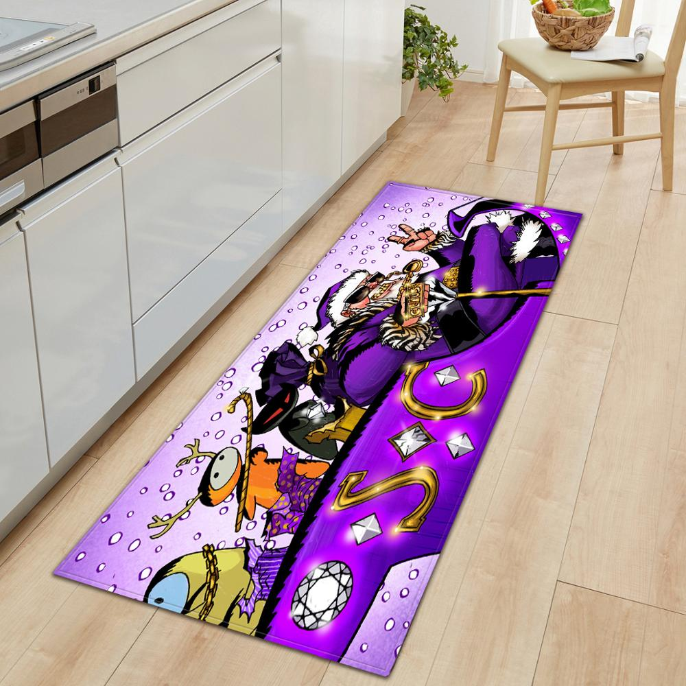 Floor Carpet Christmas Door Mat Cute Santa Carpet Rectangular Indoor Outdoor Floor Anti-Slip Mat Home Decor Rug Welcome Door Mat