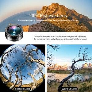 Image 4 - Apexel novo kit de lente da câmera do telefone 6 em 1 lente olho de peixe 205 graus grande angular 25x lente macro cpl/estrela nd32 filtro para smartphones