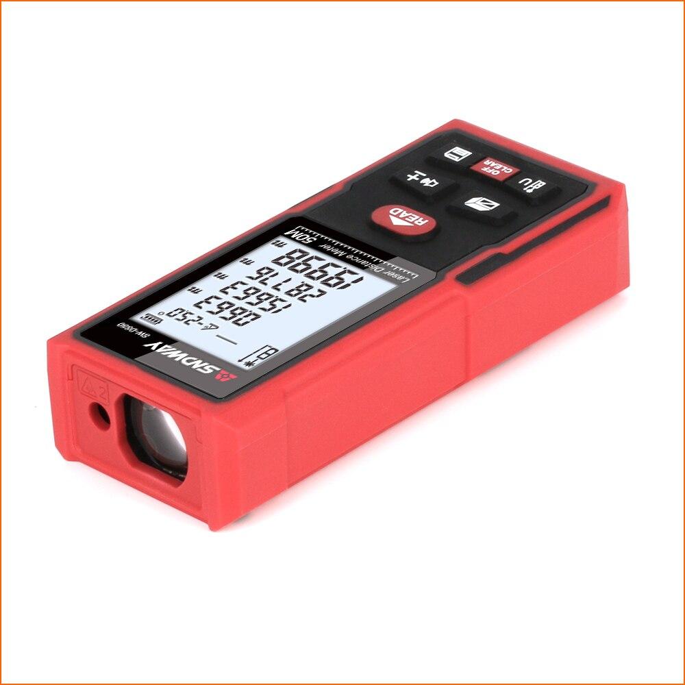 SNDWAY Laser Abstand Entfernungsmesser Jagd Entfernungsmesser Digital Range finder Laser Band Abstand Herrscher Sensor 50m Entfernung Meter
