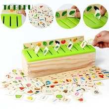 Conhecimento matemático classificação cognitiva correspondência crianças montessori cedo educacional aprender brinquedo caixa de madeira presentes para crianças