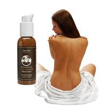 Dropshipping Self-Tanning Cream for Bronzer Face Body Solarium Cream for Day Sun Block Makeup Foundation Tanner Lotion 100ml cheap LANBENA 100 g CHINA GZZZ YGZWBZ 20191210 Self Tanner Bronzer MR201501-BN9